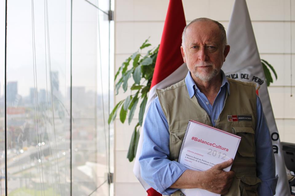Ministro Peirano con el BalanceCultura -