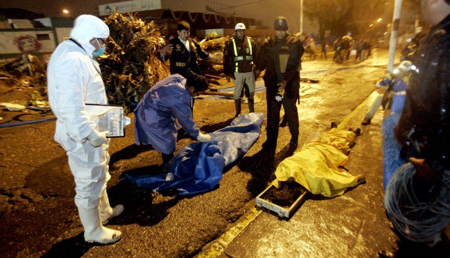 PNP conoce identidad de cinco muertos por lluvias