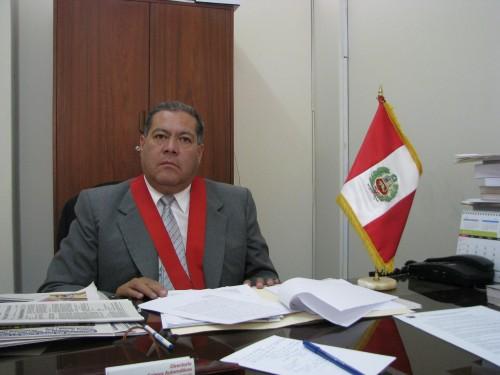 Presidente de la Corte,Benito Paredes,  cuando dirigía la Odecma
