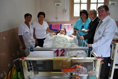 Milagros Puma se recupera en hospital Arzobispo Loayza.