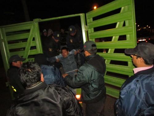 Las personas intervenidas fueron trasladadas a la comisaría.