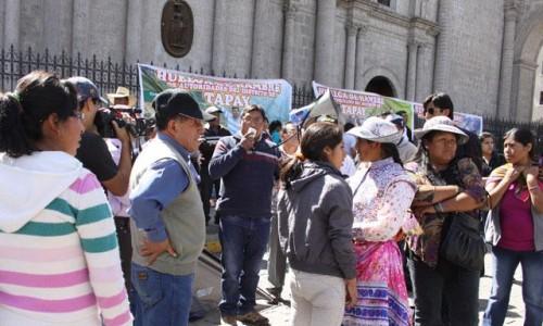 Huelga pobladores de Tapay
