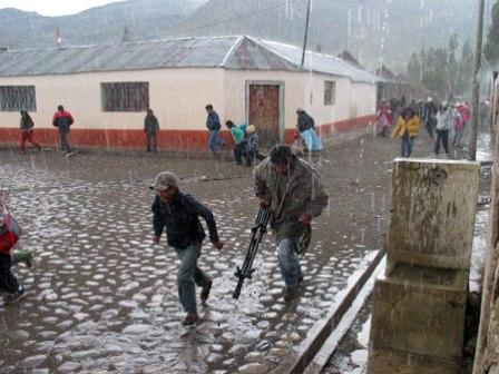 Lluvias y granizo en provincias de Arequipa a partir del miércoles (foto referencial)