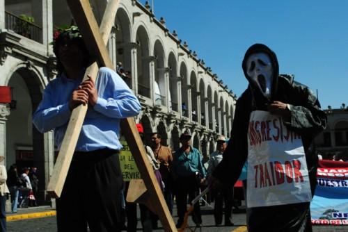 Huelga de trabajadores estatales