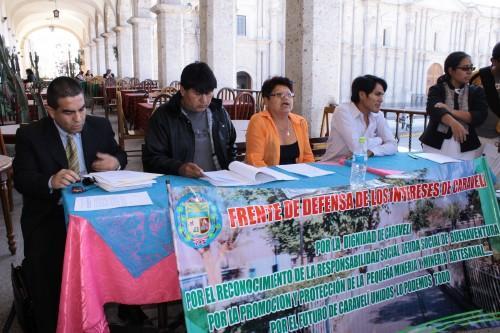 Frente de Defensa de los Intereses de Caravelí exigen diálogo con minera Buenaventura