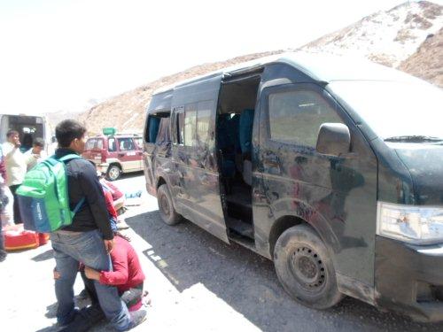 en la carretera a Cerro Verde