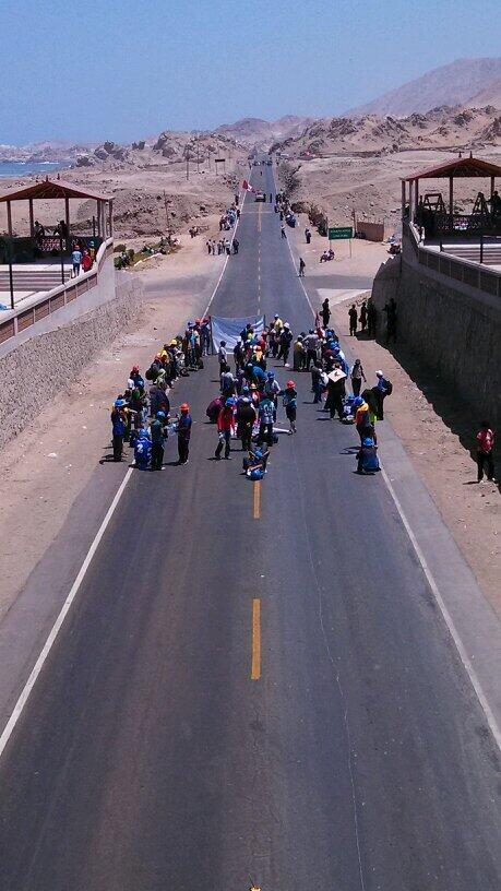 mineros informales en protesta