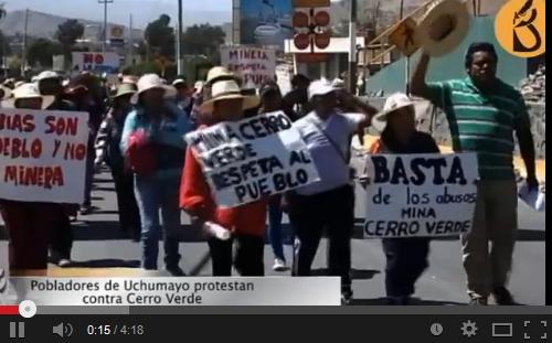 contra minera Cerro Verde