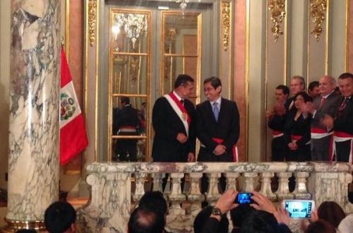 Anibal Velásquez Valdivia y Ollanta Humala