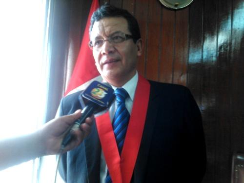 nuevo presidente de la corte de justicia de Arequipa