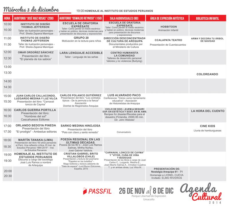 programación 3 dic 2014