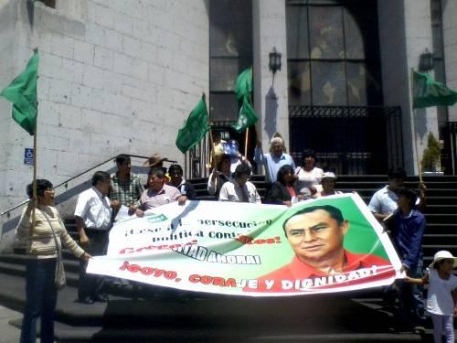 protesta por detención