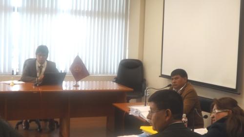 Audiencia en caso contra José Palomino