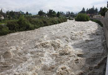 Río Chili quintuplica caudal