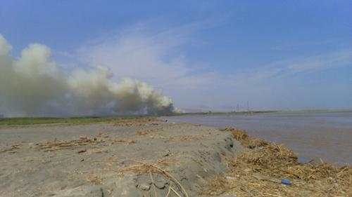 incendio-lagunas de Mejia