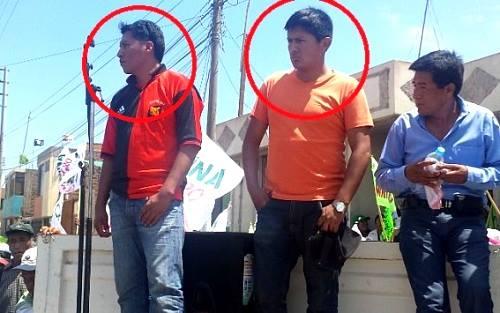 Efectivos fueron descubiertos cuando grababan a los manifestantes.(Cortesía Perú 21)