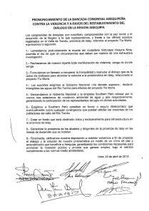 """Congresistas proponen """"soluciones"""" para Tía María tras un mes de ausencia"""