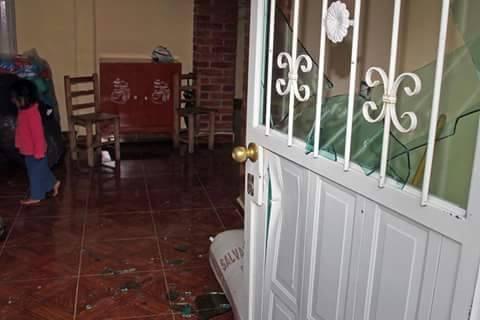 Así quedó una vivienda tras la irrupción violenta de la Policía en busca de opositores a Tía María.