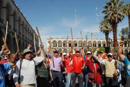 Tía María: obreros se suman a la protesta del miércoles en contra del proyecto minero