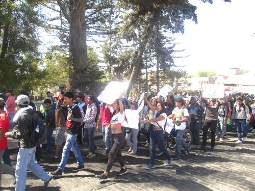 marchas de protesta