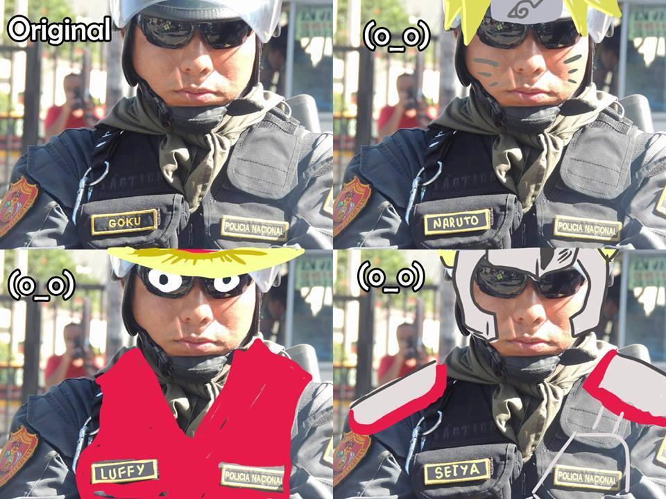 policía goku
