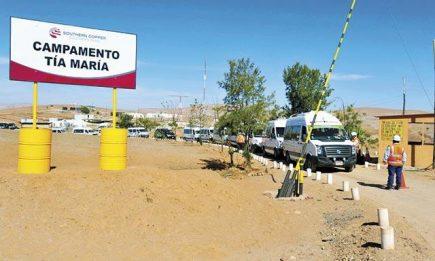 Tía María: Southern quiere licencia de construcción para iniciar este año