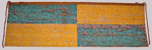 Manto plumario de la cultura wari. solo esta pieza valdría 2 millones de dólares según el director del museo