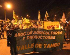 Tía María: pobladores del valle de Tambo en nueva protesta y Southern dice esperará un tiempo