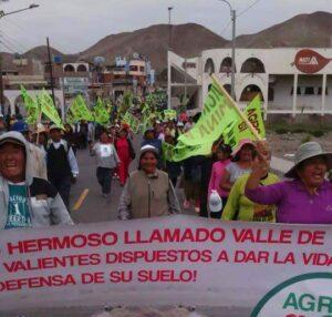 Marcha en Cocachacra en rechazo a convenios de Salud suscritos con minera Southern