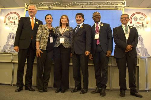 Autoridades nacionales e internaciones dio inicio a XIII congreso de Ciudades Patrimonio.