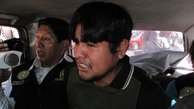 Jhonatan Riquelme Mamani detenido por homicidio de un mujer en Socabaya a la que metio en una maleta.