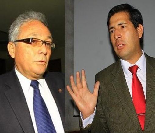 Representante de la Organización del Congreso y MPA, Freddy Padilla.; y gerente de Comercio Exterior y Turismo del GRA, Alfredo Venero