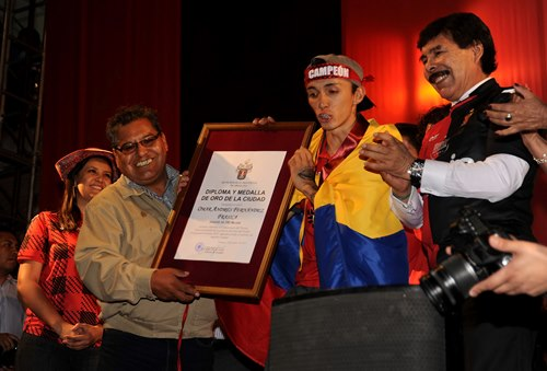 Promesa. El colombiano Omar Fernández, autor de uno de los goles.