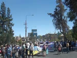 protesta pobladores cuenca río Ocoña