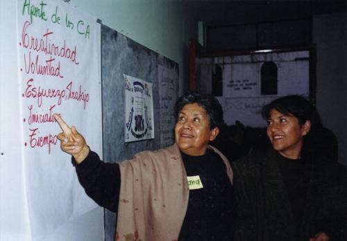 Doña Juanita enseñando por muchos años