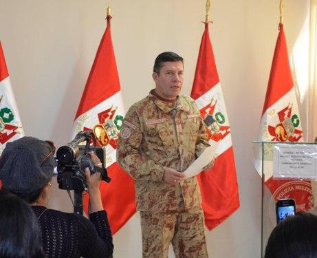Comandante general del III División del Ejército, general de División Manuel Rodríguez Luna Victoria