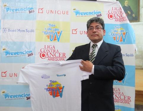 Presidente de la junta directiva de la Liga Contra el Cáncer Arequipa, Wilmer Sierra