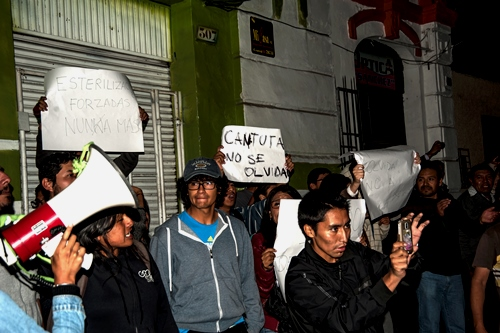 protesta contra Keiko Fujimori