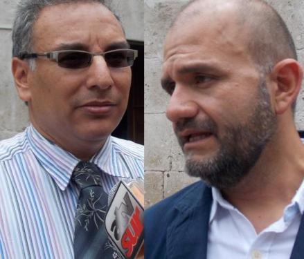 Arquitectos Carlos Zeballos y Gustavo Delgado, miembros del Instituto Municipal de Planeamiento de Arequipa (IMPLA)