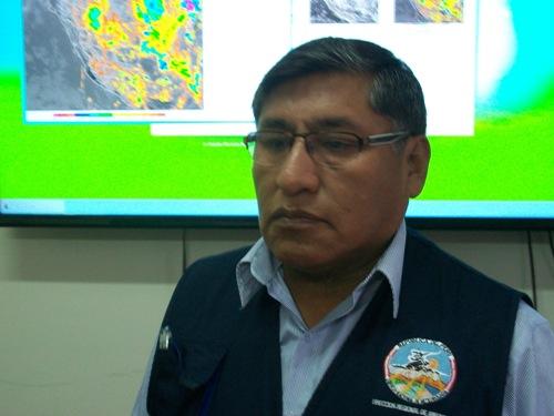 Director regional del Senamhi, Guillermo Gutiérrez Paco