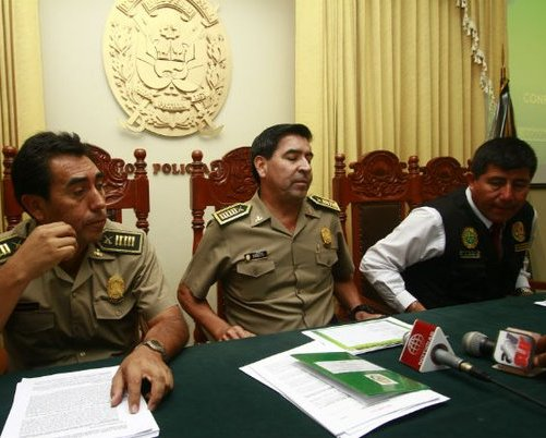 Jefe de Estado Mayor de la Región Policial Arequipa, Freddy Zegarra Black