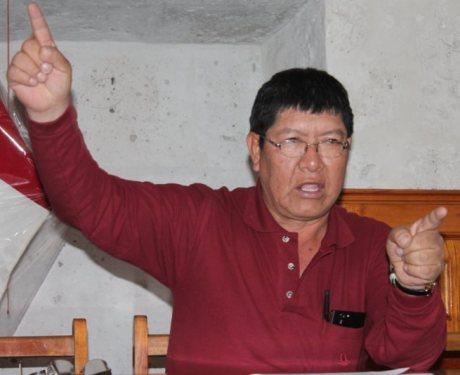 Secretario de la Federación Departamental de Trabajadores de Arequipa (FDTA), Gerónimo López Sevillano