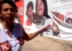 """Atentan contra local de campaña de candidata al congreso de """"Fuerza Popular"""""""