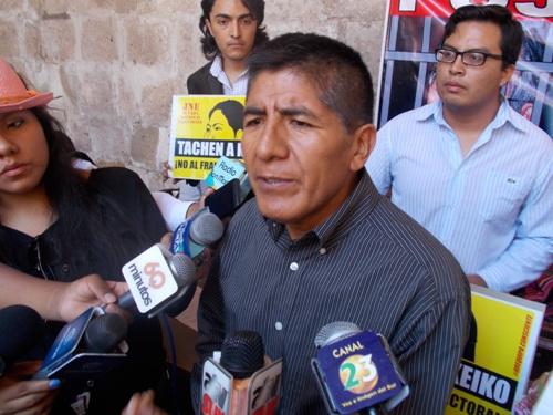 Presidente del Frente Anticorrupción, Abraham Olivera Mamani