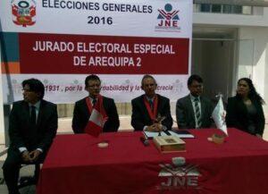 Se instalaron dos jurados electorales más en la región de Arequipa