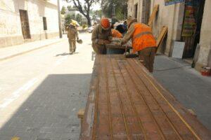 Trabajos de restauración de San Lázaro tienen un 80% de avance