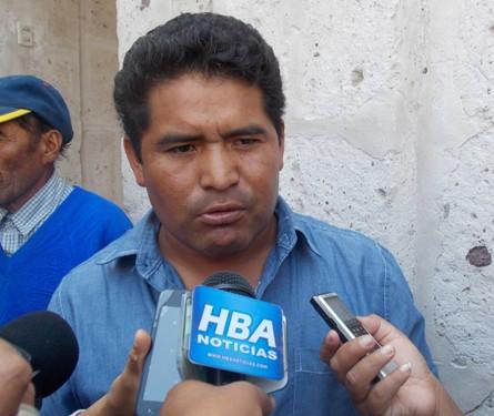 Regidor de Cerro Colorado y candidato al Congreso por Solidaridad Nacional, Wilfredo Quispe Gutiérrez