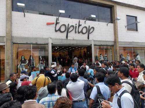 protesta en topitop