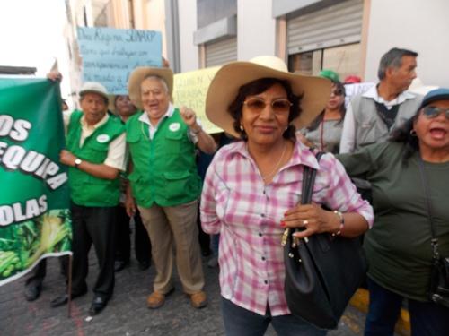 Presidenta de la Asociación Mutualista de Pequeños Agricultores de Cayma y anexos de Arequipa (AMPACA), María Gonzales.