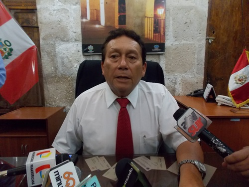 Presidente del Consejo Regional, Eddy Medina.